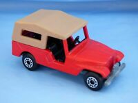 Vintage 1977 Matchbox Superfast No 53 Red Willys JEEP CJ-6 Toy Diecast Car imp.