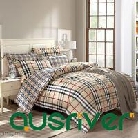 England Single/Double/Queen/King Size Bed Quilt/Duvet/Doona Cover Set 100%Cotton