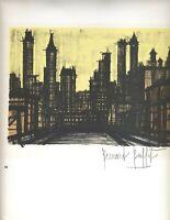 Listed French Artist BERNARD BUFFET Original Signed Rare early work Listed d