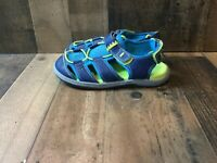 Kai runners boys 2.5 blue/turquoise/green sandals w hook loop straps shoes