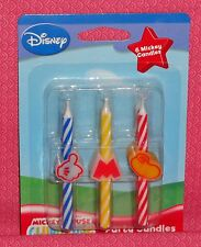 Mickey Mouse Birthday Cake Icon Candles,Multi-Color, DecoPac,Wax Party Topper
