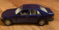 Vintage Welly Blue Mercedes Benz 600 SEL  No.9048 Rare Die Cast Car 5 inch