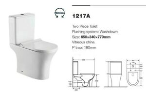 EVOLVE Round Rimless Close Coupled Toilet with Ultra Slim Soft Close seat P TRAP