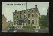 USA MAINE c1910 PPC ELKS LODGE CLUB HOUSE PORTLAND