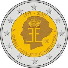 2 EURO COMMEMORATIVO BELGIO 2012 Regina Elisabetta