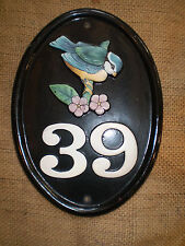 VINTAGE ENGLISH CAST IRON HOUSE SIGN,39,THIRTY NINE IN VERY GOOD CONDITION