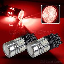 High Power Cree 7443 Red LED Brake Tail/Stop Light Bulbs/Bulb