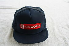 KENWORTH TRUCKERS HAT  WITH EMBROIDERY PATCH  ( ADJUSTABLE Sizing ) COLOR BLUE