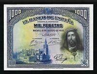 SPAIN 1928 1000 PESETAS ☆SAN FERNANDO☆P-78A☆ PMG-65 GEM ☆ SCARCE XL NOTE ☆