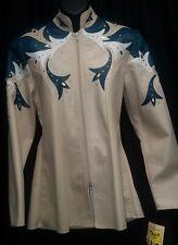 SHOWMANSHIP Jacket Ladies/Youth XS Tan White & Teal NWT
