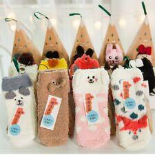 Adults Kids Gift Set Box Santa Coral Fleece Slipper Socks Winter Xmas Christmas