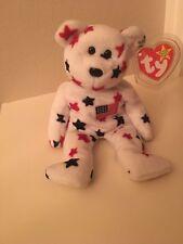 NWT RARE Retired Original Beanie Baby Bear 'Glory' 1998 SupportJuvenile Diabetes