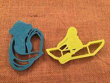 2 Wilton Disney Pocahontas Green Blue Plastic Cookie Cutters