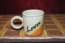 "Pottery Coffee Mug Cup Lover Clay in Mina 5""x3 1/4"" Marked"
