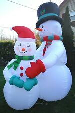 Christmas Airblown Inflatable 10.5 ft. Snowman Couple Family