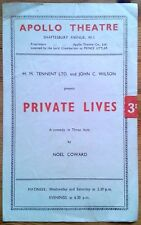 Private Lives programme Apollo Theatre 1944 Peggy Simpson John Clements