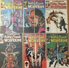 Kitty Pryde And Wolverine 1 2 3 4 5 6 Marvel 1984 Comic Book Run Set 1-6 VF