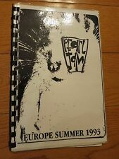 Pearl Jam tour book itinerary 1993 Rare! Eddie Vedder Neil Young not signed