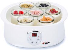 Professional Digital Natural Yoghurt Maker 7 Glass Jars & Automatic LCD Display