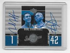 2002-03 UD Inspirations Jerry Stackhouse/Jared Jeffries Dual Auto/1600