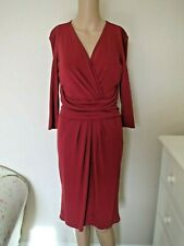 ISSA LONDON DRESS 12 14 CHERRY RED CLASSIC OFFICE CHRISTMAS PARTY