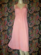 Vintage Formfit Rogers Coral A-line Silky Nylon Slip Nighty Lingerie 38