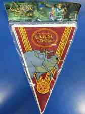 RARE Quest for Camelot Cartoon Medieval Birthday Party Decoration Flag Banner