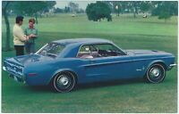 1968 Ford MUSTANG HARDTOP Original Dealer Advertising Promo Postcard UNUSED Ex