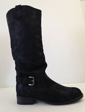MOSSIMO Women's  Faux Suede Black High Boots Size 7. 5 M USA