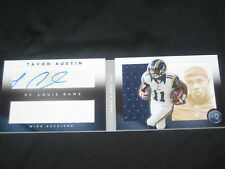 TAVON AUSTIN RAMS ROOKIE CERTIFIED AUTOGRAPHED SIGNED FOOTBALL JERSEY CARD /25