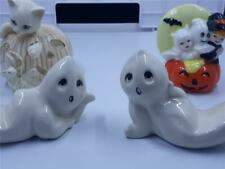 New ListingLot 4 Halloween figurines vintage Lenox Cat, Jol, ghosts, very good