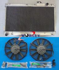 Aluminum Radiator + Fans for MAZDA MIATA MX5 MX-5 1.6L 1.8L 1990-1997 MT