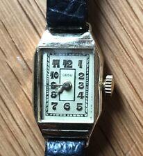 Damen-Armbanduhr - GEDU  - 585-GOLD - mech.aufziehbar läuft - 30er-Jahre ArtDeco