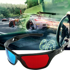 5x Black Frame Red Blue 3D Glasses For Dimensional Anaglyph Movie Game DVD AV