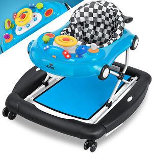 RETOURE 4in1 Lauflernhilfe Babywalker Spiel- und Lauflernwagen Gehfrei Babywippe