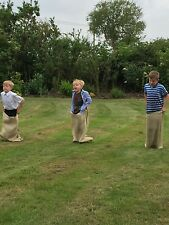 5 x Children's Sack Race Kids Games 50 x 80cm Sports Day (5 Sacks)