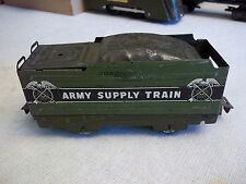 MARX 952 FOUR WHEEL ARMY MILITARY WEDGE TENDER TAB AND SLOT