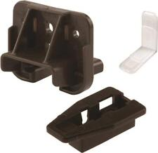 PRIME LINE R 7321 PACK (2) BROWN PLASTIC DRAWER TRACK GUIDE & GLIDE KITS 6969992