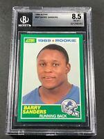 BARRY SANDERS 1989 SCORE #257 ROOKIE RC NM-MINT+ BGS 8.5 DETROIL LIONS NFL HOF