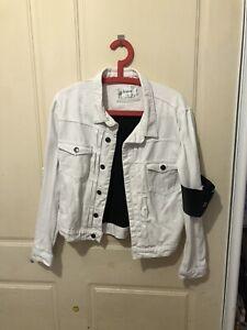 Dead Studios White Denim Jacket