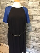 Used Black & Blue Dress Size 20 By Isle With Belt