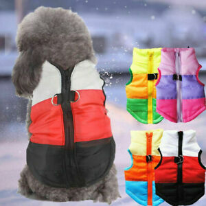 Small Pet Coat Padded Jacket Winter Clothes Yorkie Dog Chihuahua BoyGirl Apparel