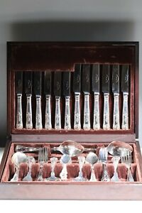 Vintage Canteen of Kings Pattern Cutlery, Stainless Steel, 44 Pieces