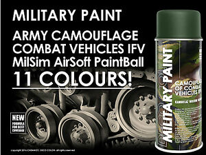 DECO COLOR MILITARY SPRAY PAINT CAMOUFLAGE ARMY PAINTBALL AIRSOFT ASG MilSim DIY