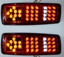 PAIRE  FEUX ARRIERE 12V 33 SMD LED ULTRA FINS LAMPES POUR IVECO DAF MAN RENAULT