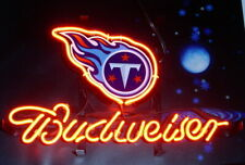 "New Tennessee Titans Budweiser Neon Sign Artwork Light Lamp Bar Pub Gift 20""x16"""