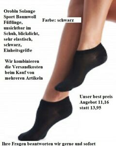 2 Pack Oroblu Solange Sport Cotton Foot Protectors, Füßlinge, unsichtbar