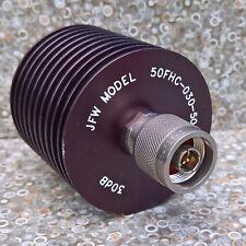 JFW 50FHC-030-50 Coaxial Fixed Attenuator 50W 30dB 50 Ohms RF Microwave Type N