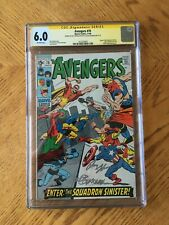 Avengers #70 Signed Roy Thomas Sal Buscema 1st Full Squadron Sinister 6.0 FN CGC
