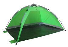 Strandmuschel Strandzelt Schirmsystem Grün Wetter- und Sichtschutz Pop Up Zelt